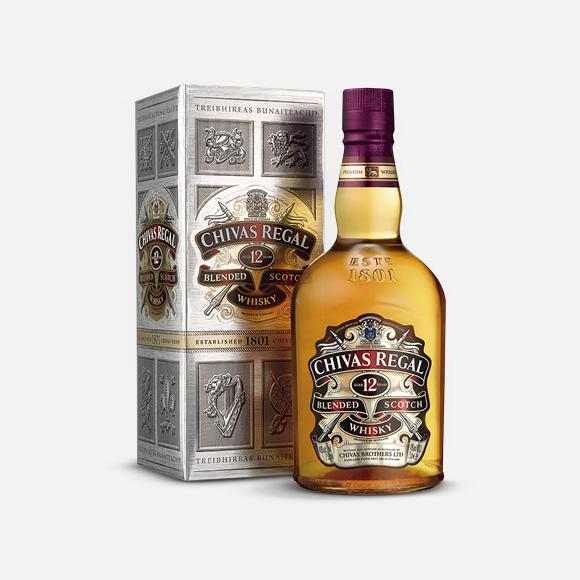 Whisky Chivas Regal 12 Años 750 ml