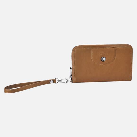 Longchamp Billetera Compact Natural Le Pliage Cuir
