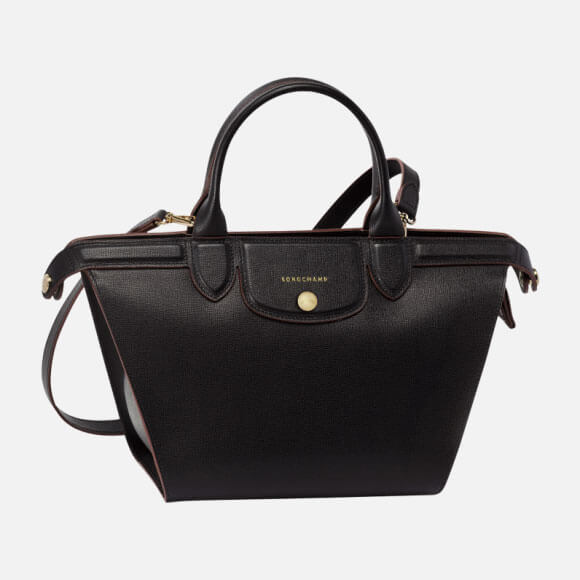 Bolso De Mano Black Le Pliage Hã©Ritage Longchamp