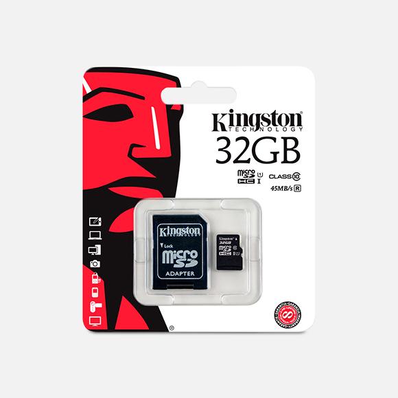 Tarjeta Kingston 32GB Microsdhc Class 10 Read
