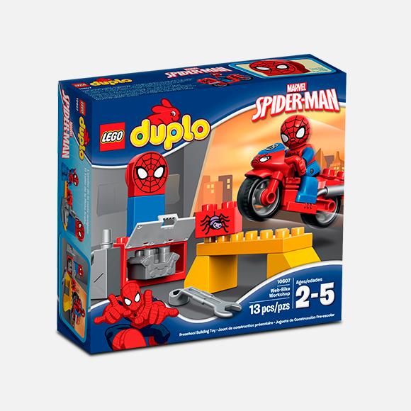 El taller de la moto araña de Spiderman Lego 10607