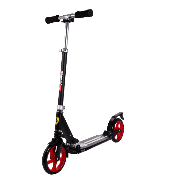 Ferrari 2-Wheel scooter with suspension function negro