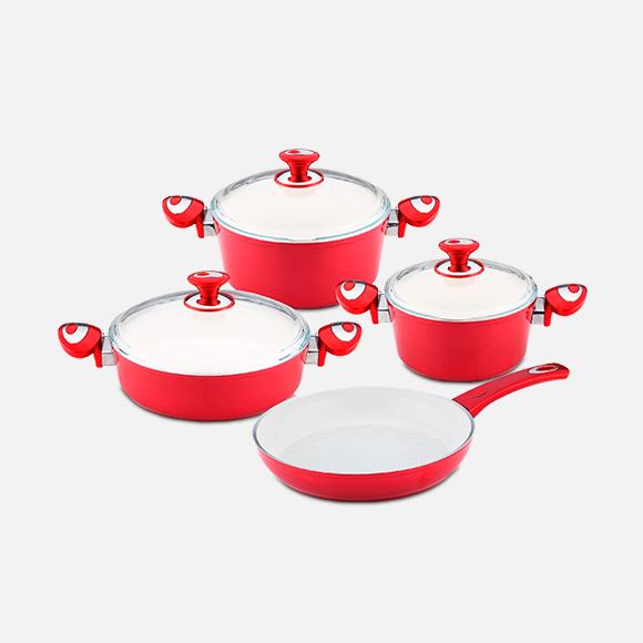Set 7 piezas Astoria cerámica roja