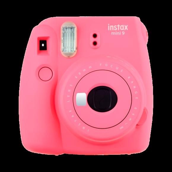Cámara Instax Mini9 Fujifilm rosa flamingo