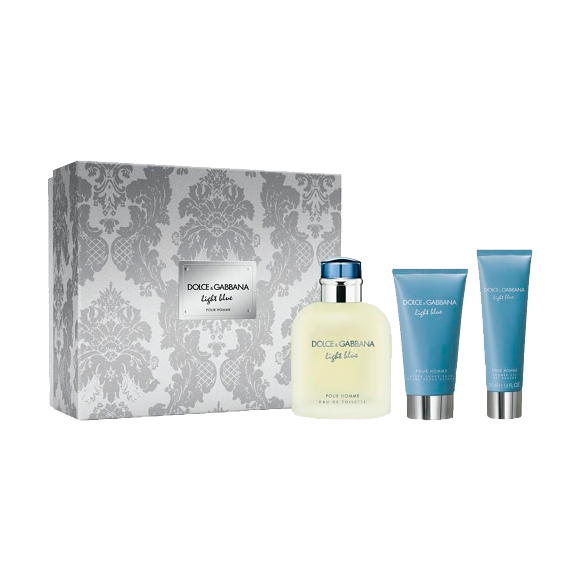 Dolce & Gabbana Estuche  Light Blue Pour Homme Edt 125 ml + Aftershave 75 ml +  showergel 50 ml