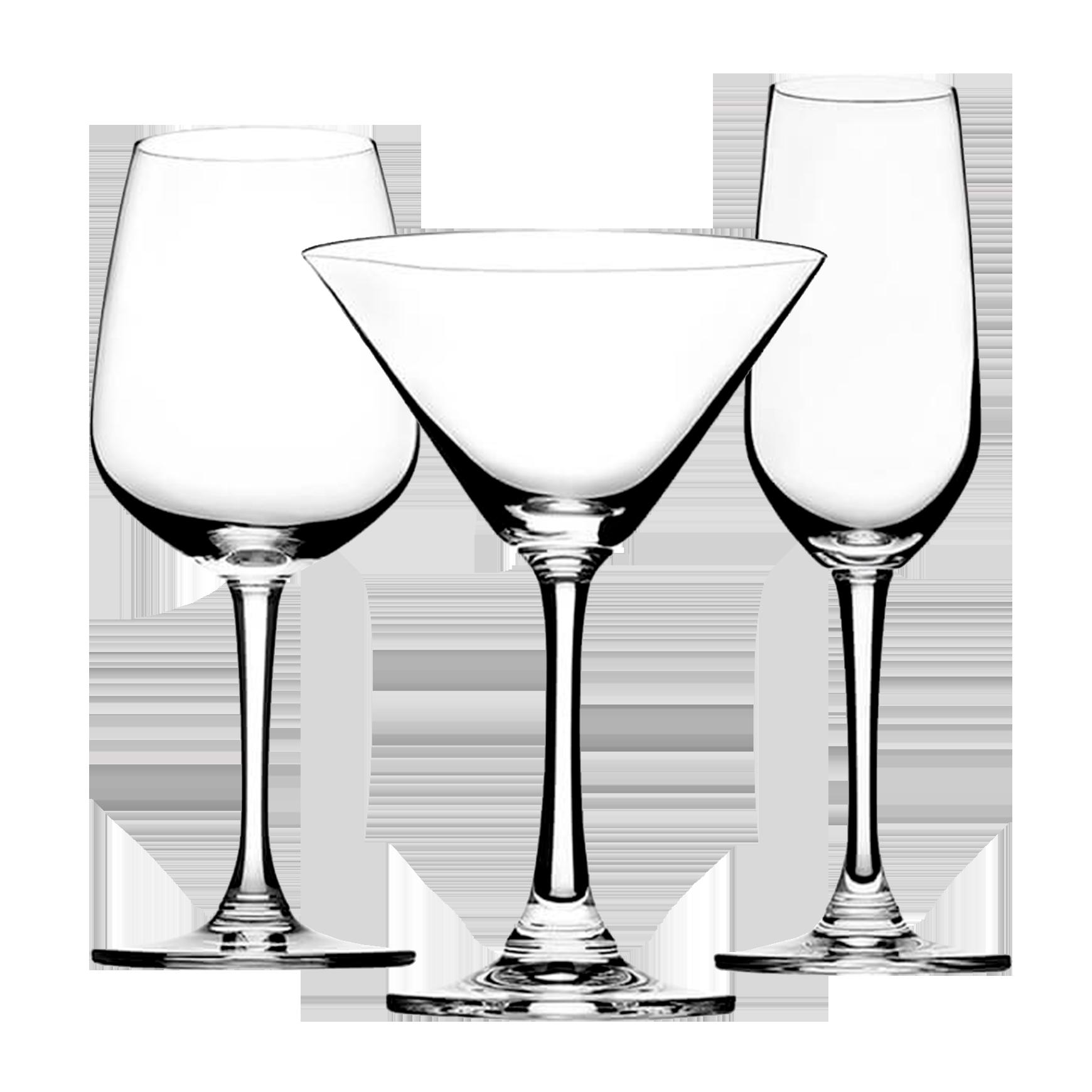 Set copa Champagne X 6 piezas + 6 copas sommelier + 6 copas martini