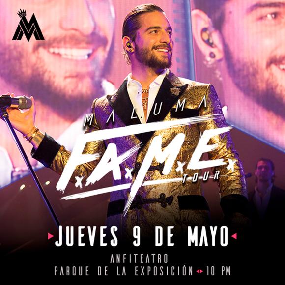 Concierto Maluma Fame tour platinum
