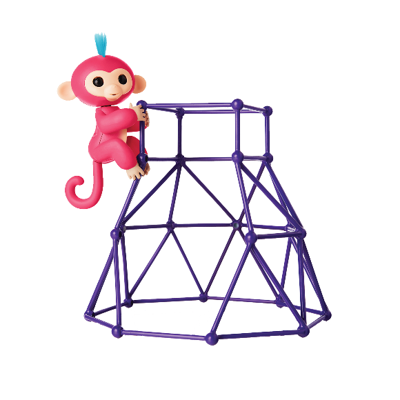 Fingerlings Playset With 1 Monkey - Jungle Gym