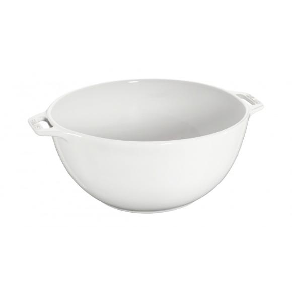 Ensaladera de 25 cm de cerámica de color blanco Staub